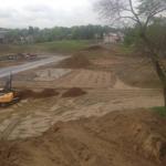 Nivellement d'un terrain, excavation et terrassement
